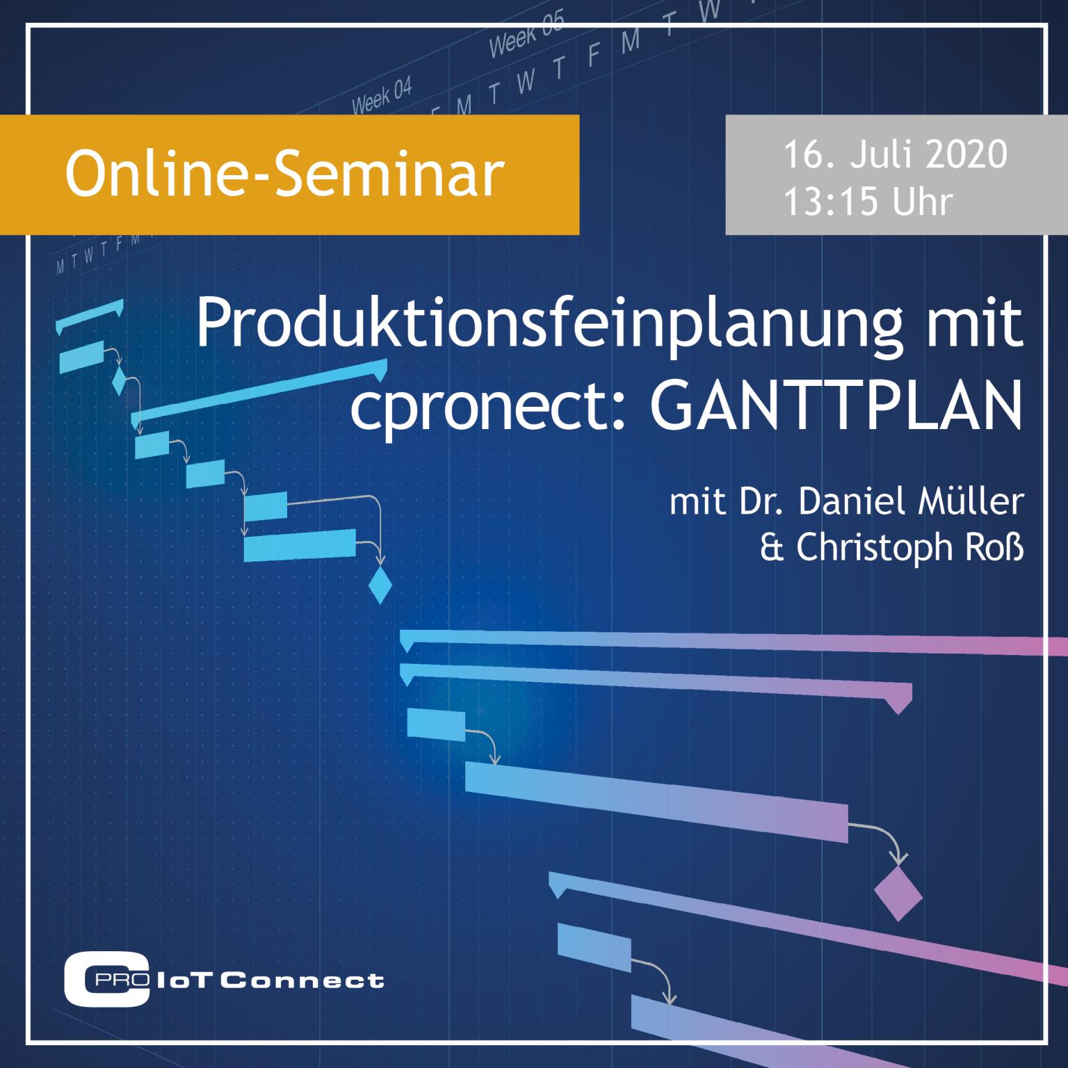 Online-Seminar - cpronect: GANTTPLAN